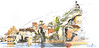 180221vdl04 (Vincent Desplanche) Tags: aquarelle watercolor valleedulot lotvalley urbansketchers seawhiteofbrighton concertina concertinasketchbook carandache neocolor neocolor2 croquis larroquedesarcs boraldes lelotaufildeleau aufildulot vincentdesplanche