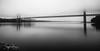 George Washington Bridge (svpe4711) Tags: usa d750 landscape landschaft himmel america mist ny newyork georgewashingtonbridge hudsonriver manhattan water clouds architecture longexposure fluss urban wideangle sw river nyc schwarzweis city sky fog weitwinkel bw blackwhite bridge