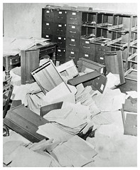 Ransacked records at Silver Spring draft board: 1969 (Washington Area Spark) Tags: silver spring three 3 selective service system draft board jessup blair house destroy records blood paint arrest maryland md anti vietnam war leslie bayless jonathan michael bransome hit stay ransack