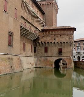 Castello Estense (XIVe-XVIe), Ferrare, Emilie-Romagne, Italie.