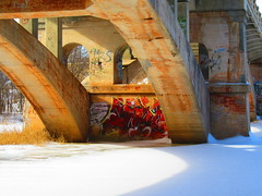 IMG_1616 2-22-2018 (PGK88) Tags: bridge architecture concrete industrial graffiti old winter structure river arches 2018 365 pgk88