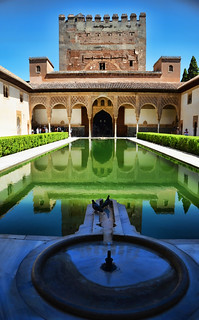 The Alhambra Court of the Myrtles, Granada Spain
