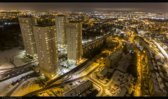 North Glasgow high rise (Steven Mcgrath (Glesgastef)) Tags: glasgow springburn dji phantom 4 four drone arial photography sky north scotland scottish urban night lights city