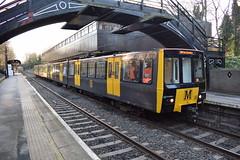 Tyne And Wear Metro 4060 at South Gosforth (Tom 43299) Tags: tyneandwearmetro 4060 branchlinesociety train railtour southgosforthmetro emu