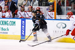"Kansas City Mavericks vs. Allen Americans, February 24, 2018, Silverstein Eye Centers Arena, Independence, Missouri.  Photo: © John Howe / Howe Creative Photography, all rights reserved 2018 • <a style=""font-size:0.8em;"" href=""http://www.flickr.com/photos/134016632@N02/39790819614/"" target=""_blank"">View on Flickr</a>"