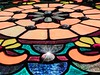 Stain Glass (clarkcg photography) Tags: stainglass colors lead sections light flower fleurdelis lotus