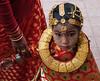 Girl at ihi ceremony (geneward2) Tags: ihi ceremony bhaktapur nepal red gold jewelry