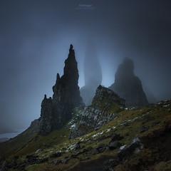 'The Vanishing' - Old Man of Storr (Gavin Hardcastle - Fototripper) Tags: isle skye portree old man storr winter cold sunrise morning highland scotland scottish moody gloomy