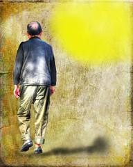 Into the Light ... (daystar297) Tags: portrait streetportrait photomanipulation photoshop art photoart shadow sun people nikon