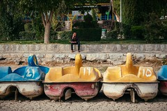 Pedal Boats (toletoletole (www.levold.de/photosphere)) Tags: fuji fujixpro2 isfahan flussbett xf18135mm riverbed esfahan tretboote pedalboats