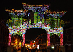 Chinese New Year Projections (.annajane) Tags: chinatown liverpool merseyside night projections light arch flowers display chinesenewyear lunarnewyear