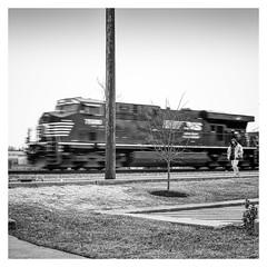Life at Different Speeds (jeremy.mudd) Tags: train hamilton hamiltonohio hasselblad acros acros100 hasselblad500c monochrome blackandwhite semistand homedevelop epsonv600 v600