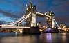 Tower Bridge (gemmawhite1) Tags: tower bridge london reflection night slow shutter