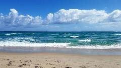 Magnificent Atlantic (Sun~Lover) Tags: ocean atlantic florida warmth blue waves sand beach sailboats delarybeach palmbeachcounty sun sky puffy clouds saltair explore 2017