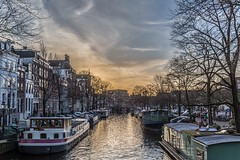Sunset over Amsterdam canals (not4rthur) Tags: amsterdam noordholland paysbas nl