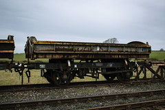 989104 Rolvenden 140218 (Dan86401) Tags: 989104 db989104 zjv mermaid fishkind br open ballast sidetipping sidetipper wagon freight infrastructure engineers departmental civilengineer kentandeastsussexrailway rolvenden