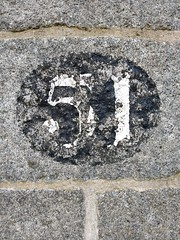 51 (2) (Bobfantastic) Tags: aberdeen scotland uk city urban granite numbers paint font texture decay historical preservation