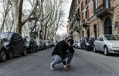 soon in the streets (Nico Selis) Tags: portrait boy guy hype street wear streetwear black white dark day night sky blue road rome architecture supreme bape yeezy boost adidas gold chain swag thrill