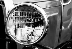 Illuminati... (Stu Bo) Tags: ford sbimageworks headlight vintageautomobile vintagecar light shadows showcar smooth beautiful blackandwhite bw bnw photography canon certifiedcarcrazy coolcar classiccar canonwarrior ride reflections