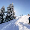 perfect weather for winter sports (thethomsn) Tags: perfect weather wintersports tree snow winter chairlift slope motion action canon 6dii 1635mm thethomsn 1x1 square