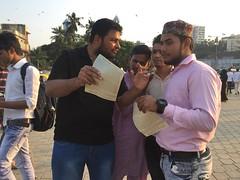 8 MFI Mumbai team at Haji Ali Dargah, Mumbai, India (Kalki Avatar Foundation) Tags: mumbai haji love peace divinelove divinesigns divine spirituality leafleting promotion alra tv kalkiavatarfoundation kalkiavatar