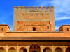 Alhambra Palace-Granada (Chris Draper) Tags: blue sky alhambra alhambrapalace granada andalucia spain moorish archtitecture islamic palace carving decoration pattern patterning tower architecture