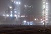 Meanwhile in the fog (Markus Lehr) Tags: fog light floodlight industriallandscape manmadelandscape nopeople peoplelessness urbanspace nightshot nightphotography longexposure berlin germany markuslehr