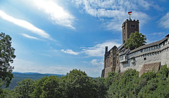 Blick zur Wartburg und über den Thüringerwald /View to the Wartburg and over the Thuringian Forest (fotokarin57) Tags: elements eisenach wartburg thüringen landschaft