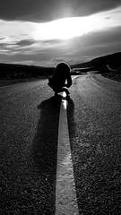 Silhouette (Donald Morrison) Tags: man male road silhouette skye isleofskye island winter cold weather sunshine scotland highlands
