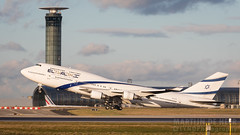 4X-ELD (tynophotography) Tags: elal airlines 747 4xeld sunset 747400er 744 cdg charlesdegaulle lfpg el al israel towercross boeing