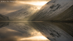 Talla Reservoir (.Brian Kerr Photography.) Tags: scotland scottishlandscapes scottish scotspirit scottishborders scottishlandscape scotspines snow sunrise sunlight tallareservoir reflections mistymorning clouds mountains mountainside dgwgo zeiss formatthitech coldmorning light availablelight briankerrphotography briankerrphoto visitscotland visitbritain winter weather mountain sky landscape water