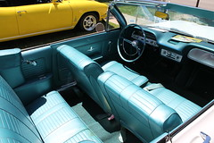 My Blue Heaven (Flint Foto Factory) Tags: flint michigan genesee county urban city summer june 2016 downtown cultural center sloan museum auto fair 44th annual classic american car automobile kearsleyst kearsley vintage generalmotors gm 1964 chevrolet chevy corvair monza convertible soft drop top white exterior aqua blue vinyl interior flintyouth theater theatre james whiting auditorium sooc straightoutof camera rear engine engined compact worldcars