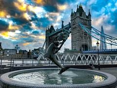 Tower Bridge (jeffshaw) Tags: nightshots fountains bridges uk england london towerbridge