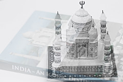 Memories from India (Chandana Witharanage) Tags: srilanka southasia lifeisarainbow memoriesfromindia marbleornament tajmahal love book doubleexposure tabletop beautiful white blanco stilllife pastel monochrome soft softfocus softlight softcolours 252 oneyearincolours52weeksproject