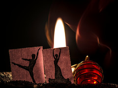 Dancing in the Dark (nuitpourpre) Tags: macromondays dancing macro dancers candle dark silhouette myfavouritenovelfiction robynbavati
