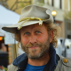 A day out for his hat (radargeek) Tags: monterey ca california farmersmarket hat beard 2017 march