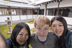 Multi-ethnic group of people taking selfie picture at temple (Apricot Cafe) Tags: img27369 asia asianandindianethnicities caucasianethnicity healthylifestyle hyakumanbenchionjitemple japan japaneseethnicity kyotocity kyotoprefecture multiethnicgroup sigma20mmf14dghsmart blackhair carefree casualclothing charming cheerful citylife closeup day enjoyment freedom friendship garden happiness humanface indoors international leaning lifestyles lookingatcamera men people photographing photography relaxation selfie smiling springtime straighthair temple tenple threepeople togetherness tourism tourist traveldestinations twopeople waistup weekendactivities women youngadult kyōtoshi kyōtofu jp