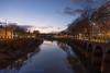 Bristol-08460 (John French - Happy Snapper) Tags: bristol evening night streetlights moon swans river harbourside