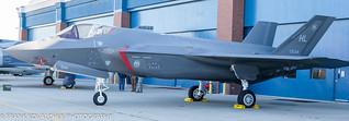 F-35 Lightning II on static display at Gowen Thunder