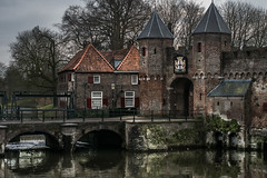Amersfoort II (bjdewagenaar) Tags: photography photograph photographer sony sonya77ii sonyalpha sonyphotographer sonyimages koppelpoort amersfoort dutch holland old architecture city urban building water reflections trees clouds raw lightroom