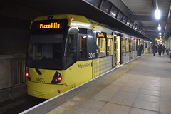 Manchester Metrolink 3007 (Will Swain) Tags: bury station 4th november 2017 greater manchester city centre north west tram trams light rail railway rails transport travel europe tramway metrolink 3007