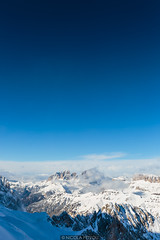 Blue gradient (Nicola Pezzoli) Tags: dolomiti dolomites unesco val winter snow alto adige italy bolzano mountain nature december marmolada blue gradient punta rocca sassolungo
