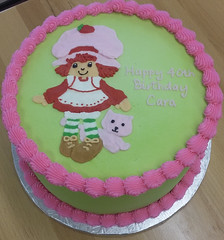 strawberryshortcake (backhomebakerytx) Tags: cake birthday kid 40th strawberry shortcake drawing backhomebakery