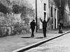 joy (ale_brando) Tags: people street streetphotography sidewalk pavement joy night roma rome romebynight newyearsday mono monochrome blackwhite blackandwhite lightroom fx d700 nikonfx