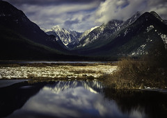 Vista (Raw Perfection Photography) Tags: pittlake pitt meadows britishcolumbia vancouver canada snow mountains lake reflection clouds