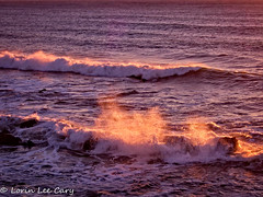 Sunset Waves (lorinleecary) Tags: californiacentralcoast cambria patterns seacapes sunrise waves light seaspray sunset