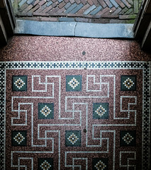 Alternative Route Planning (tvdijk19) Tags: stone art light entrance amsterdam netherlands begijnhof mozaiek mosaic urbanarte