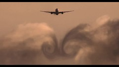 Etihad & Emirates Cloud Vortices at Sunset, Canon 1DX-II (ePixel Images) Tags: etihad emirates uae airbus boeing airbusa380 boeing787 boeing777 dreamliner brisbane bne flight aircraft aviation aviationphotography planespotting airline sky silhouette travel canon canonglobal 1dxii video canoneos1dxmarkii condensation vortices cloudvortices condensationvortices wakevortices aircraftwakevortices aircraftcondensationvortices swirl twister sunset orange