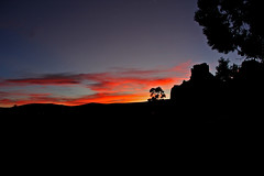 Sunset Near Sedona (craigsanders429) Tags: sunsetphotography sunsets sunset sunsetcolors sunandclouds sun arizona arizonamountains sedonaarizona red blue darkblue