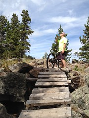 Thirsty ...... (Mr. Happy Face - Peace :)) Tags: mountainbike albertabound outdoors extreme sport